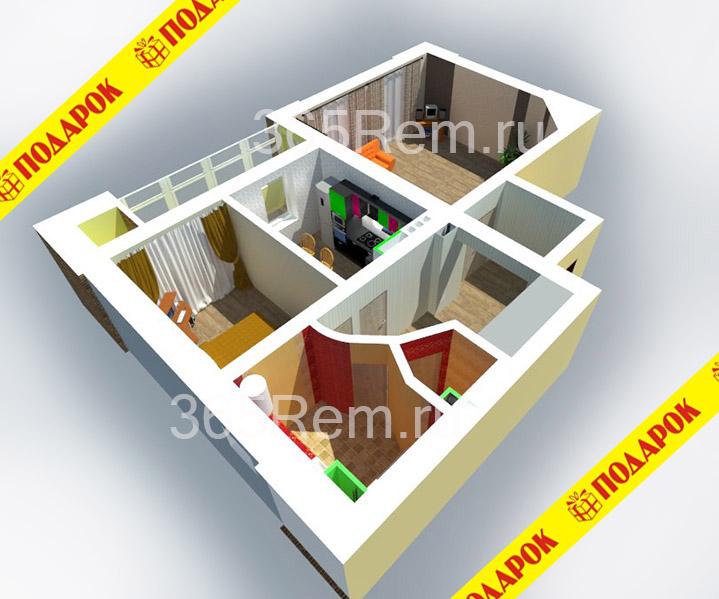 Дизайн квартиры в Южно-Сахалинске