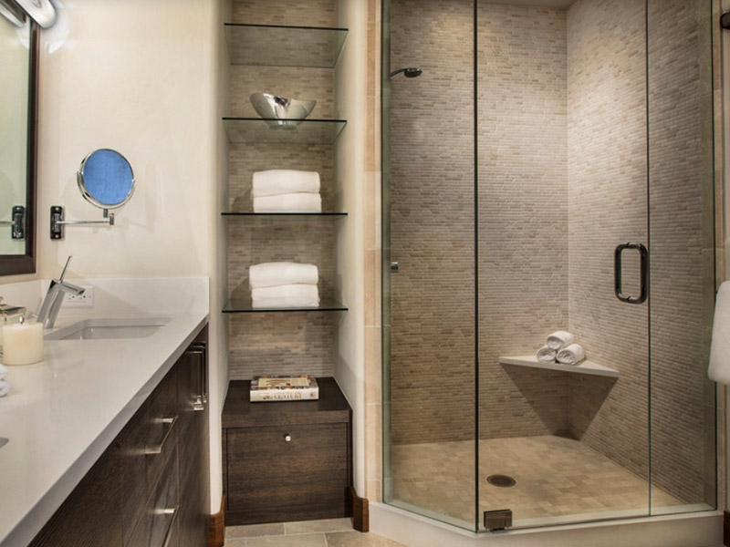 Дизайн полок для ванной комнаты фото