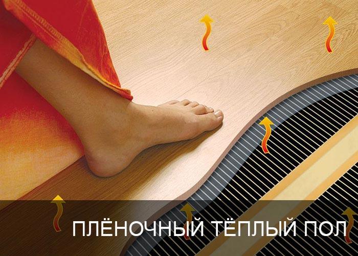 Плёночный тёплый пол.